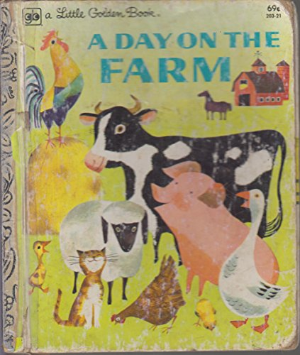 A DAY ON THE FARM (Little Golden Book): Nancy Fielding Hulick