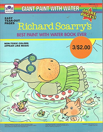 9780307028631: Richard Scarry (Paint with Water)