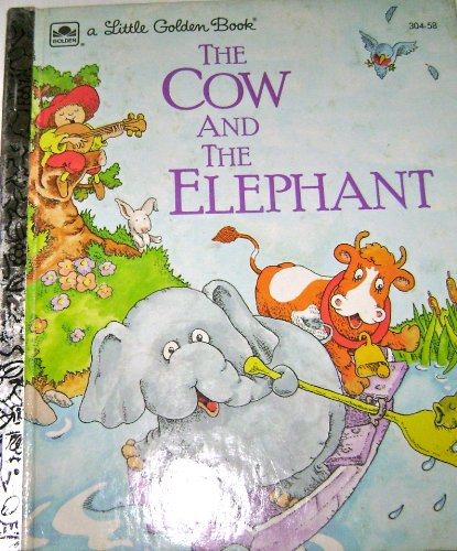 9780307030481: The cow and the elephant (A Little Golden Book)