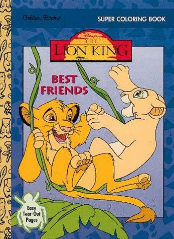 9780307034427: Best Friends: Super Coloring Book (Disney's Lion King)