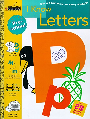 9780307035844: I Know Letters (Preschool) (Step Ahead)