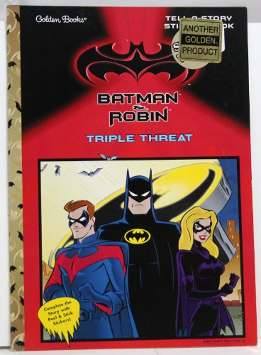 B&R Triple Threat\Tell/Sty Stk (Tell-A-Story Sticker Books): Golden Books