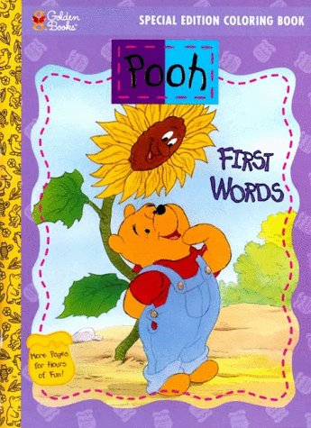 9780307056689: First Words: Pooh Special Edition Coloring Book