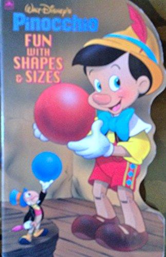 9780307123329: Walt Disney's Pinocchio: Fun With Shapes & Sizes (Golden Books)