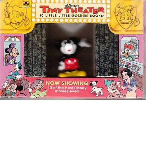 9780307136770: Disney's Tiny Theater/10 Little Little Golden Books With Mickey Mouse Figurine: 10 Little Little Golden Books