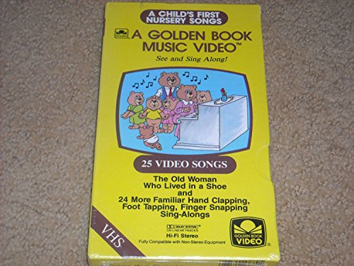9780307138804: A Child's First Nursery Songs, A Golden Book Book Music Video: 25 Video Songs including The Old Woman Who Lived in a Shoe. VHS