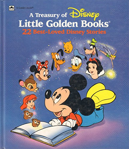 9780307155092: A Treasury of Disney Little Golden Books: 22 Best-Loved Disney Stories