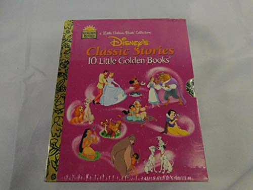 9780307155320: Disney's Classic Stories, 10 Little Golden Books [[Slipcase with 10 hardcover books with the decorative gold spine] 1996]