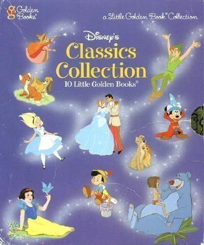 9780307158802: 10 Disney Little Golden Books Slipcase Set (includes Snow White, Cinderella, Peter Pan, Pinnochio, Lady and the Tramp, Alice in Wonderland, Fox and the Hound, Jungle Book, Sleeping Beauty, and The Sorcerer's Apprentice)