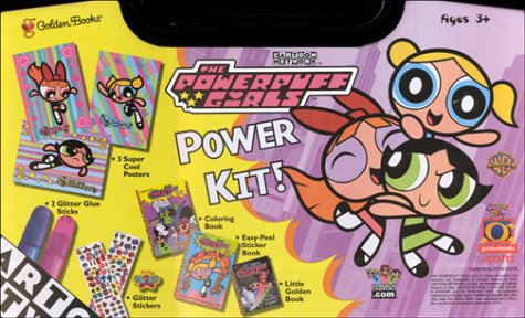 9780307163097: The Powerpuff Girls Power Kit!: Little Golden Book, Sticker Book, Coloring Book, 3 Posters, 2 Glue Sticks, Stickers