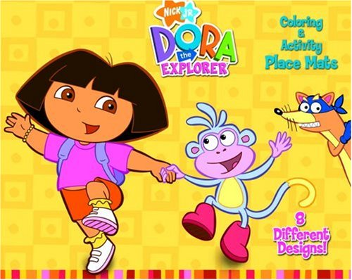 9780307234209: Dora the Explorer: Coloring & Activity Placemats