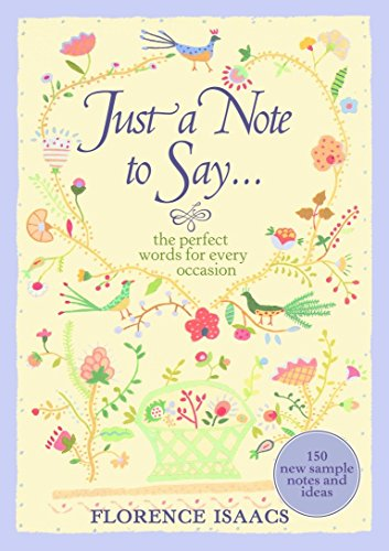 9780307236654: Just a Note to Say...: The Perfect Words for Every Occasion