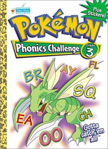 9780307306517: Pokemon Phonics Challenge Grade 3 with EZ Peel Stickers (Pokemon Challenge Workbooks)