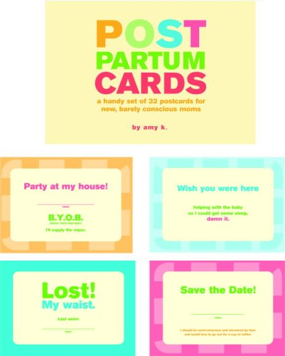 Post Partum Cards: A Handy Set of Postcards for New, Barely Conscious Moms (Potter Style): ...