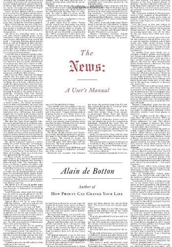 The News: A User's Manual: De Botton, Alain