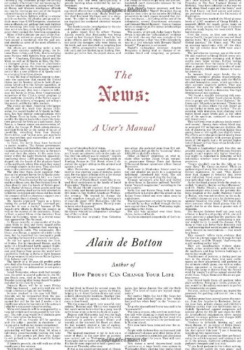 The News: A User's Manual (Signed First Edition): Alain de Botton