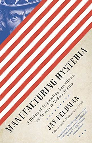 9780307388230: Manufacturing Hysteria: A History of Scapegoating, Surveillance, and Secrecy in Modern America