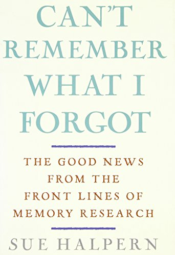 9780307406743: Can't Remember What I Forgot: The Good News from the Front Lines of Memory Research