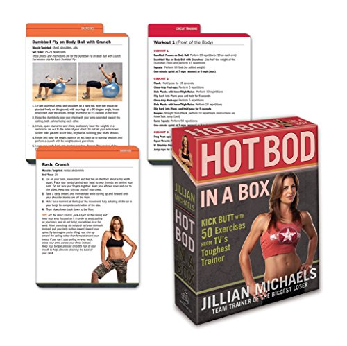 9780307450517: Jillian Michaels Hot Bod in a Box: Kick Butt with 50 Exercises from TV's Toughest Trainer