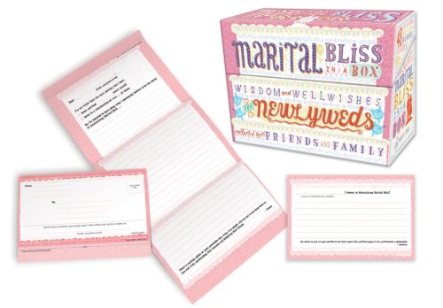 9780307453068: Marital Bliss in a Box: Wisdom and Well-Wishes for Newlyweds Collected from Friends and Family