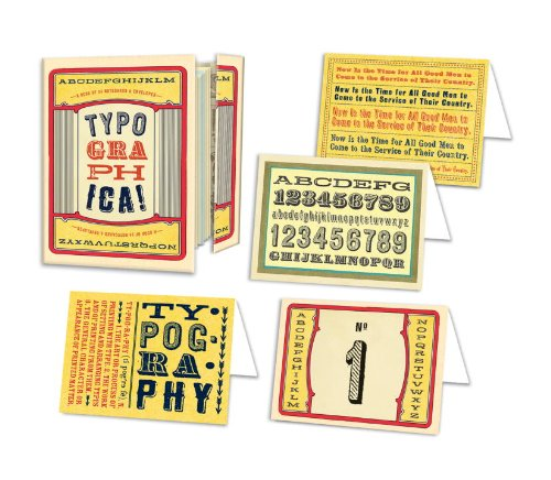 Typographica Note Card Book: A Book of 24 Note Cards: Potter Style