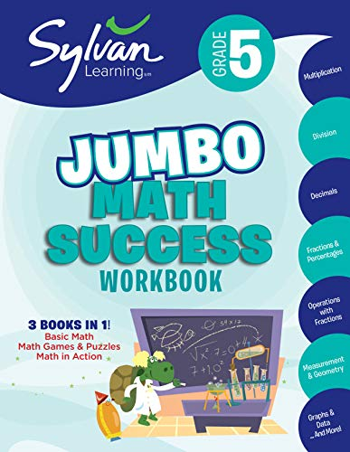 9780307479211: 5th Grade Super Math Success: Activities, Exercises, and Tips to Help Catch Up, Keep Up, and Get Ahead (Sylvan Math Super Workbooks)
