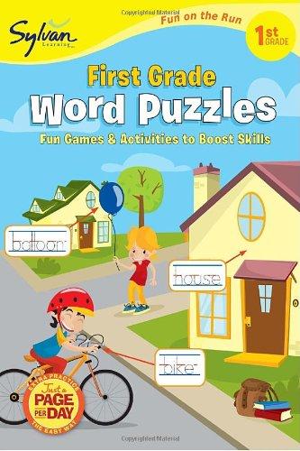 9780307479433: First Grade Word Puzzles (Sylvan Fun on the Run Series) (Sylvan Fun on the Run Series, Language Arts)