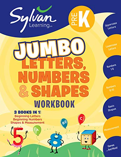 9780307479563: Pre-K Letters, Numbers & Shapes Super Workbook (Sylvan Super Workbooks) (Sylvan Math Super Workbooks)