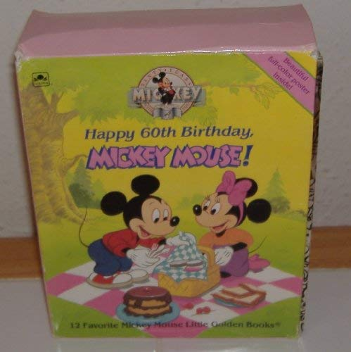 9780307600370: Happy 60th Birthday Mickey Mouse! 12 Favorite Mickey Mouse Little Golden Books
