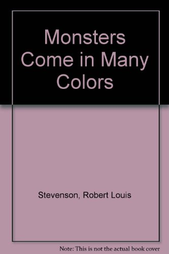 9780307684523: Monsters Come in Many Colors