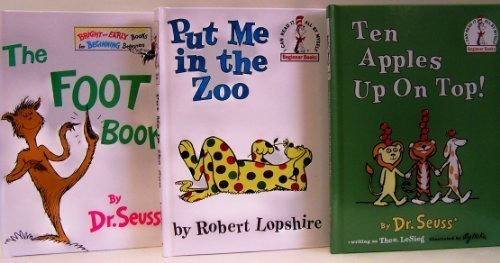 9780307725011: Ten Apples Up On Top / Put Me in the Zoo / The Foot Book - 3 Book Set (I Can Read It Beginner Books) by Dr. Seuss (1965-08-01)