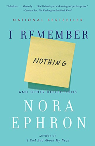 9780307742803: I Remember Nothing: And Other Reflections