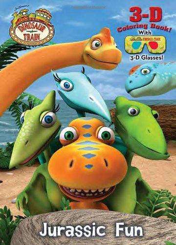 Jurassic Fun (Dinosaur Train) (3-D Coloring Book): Golden Books