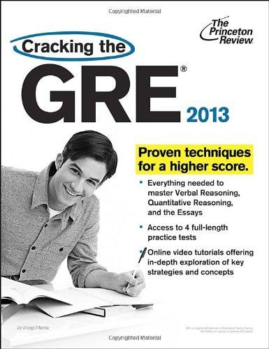 9780307944696: Cracking the GRE, 2013 Edition (Graduate School Test Preparation)