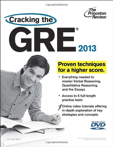 9780307944726: Cracking the GRE with DVD, 2013 Edition (Graduate School Test Preparation)