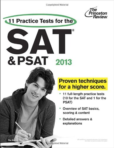 9780307944818: 11 Practice Tests for the SAT and PSAT, 2013 Edition (College Test Preparation)