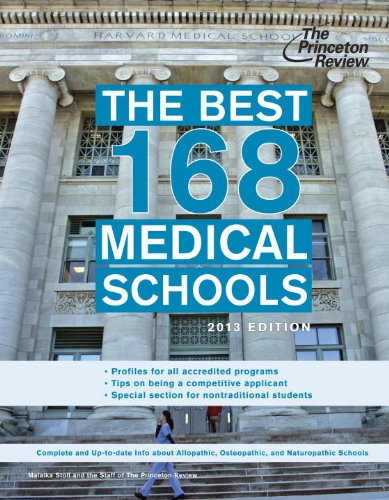 9780307945297: The Best 168 Medical Schools, 2013 Edition (Graduate School Admissions Guides)