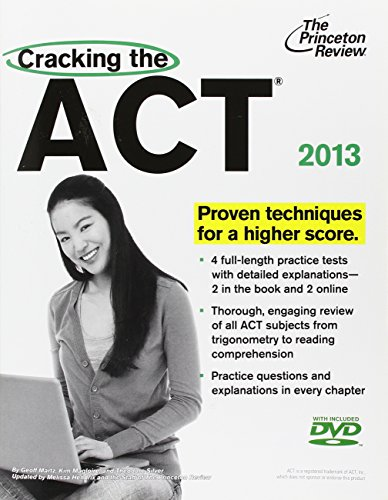 9780307945365: Cracking the ACT with DVD, 2013 Edition (College Test Preparation)