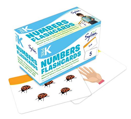 Pre-K Numbers & Shapes Flashcards (Flashcards Math): Sylvan Learning