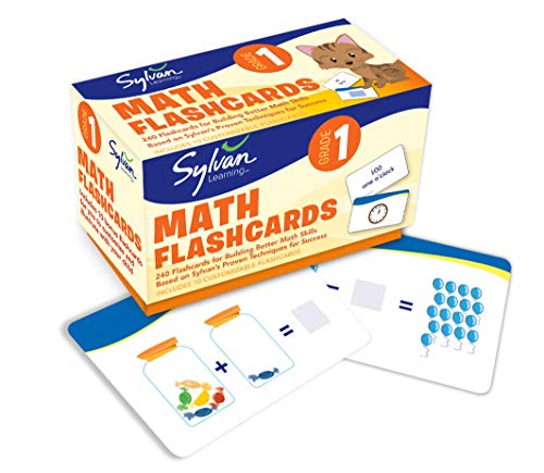 First Grade Math Flashcards (Flashcards Math): Sylvan Learning