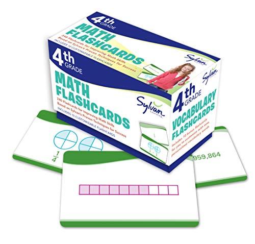9780307945501: 4th Grade Math Flashcards: 240 Flashcards for Improving Math Skills Based on Sylvan's Proven Techniques for Success (Sylvan Math Flashcards)