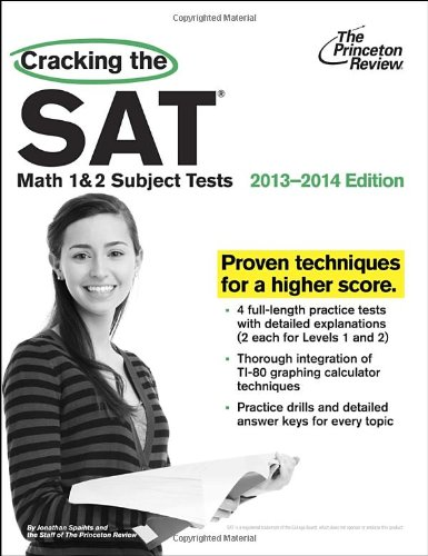 9780307945549: Cracking the SAT Math 1 & 2 Subject Tests,: 2013-2014 Edition
