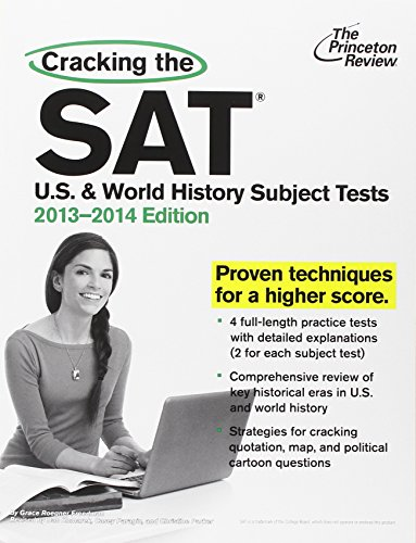 9780307945587: Cracking the SAT U.S. & World History Subject Tests, 2013-2014 Edition (College Test Preparation)