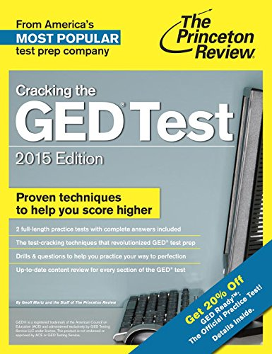 9780307946041: Cracking the GED Test with 2 Practice Tests, 2015 Edition: Fully Updated for the New GED (College Test Preparation)