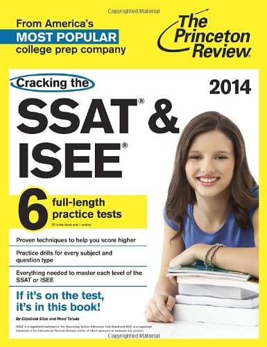9780307946171: Cracking the SSAT & ISEE: 6 full-length practice tests, 2014 Edition