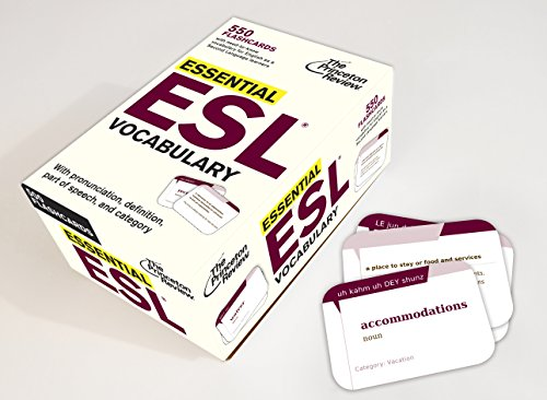 9780307946294: Essential ESL Vocabulary (Flashcards): 550 Flashcards with Need-To-Know Vocabulary for English as a Second Language Learners (College Test Preparation)