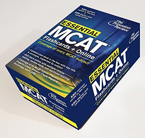 Essential MCAT: Flashcards + Online Format: Cards: PRINCETON REVIEW