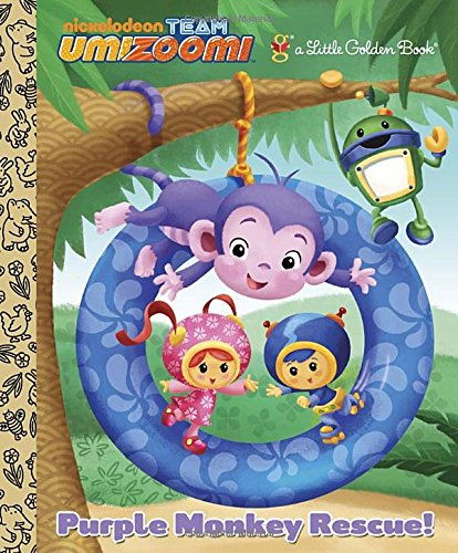 9780307975898: Purple Monkey Rescue! (Team Umizoomi) (Little Golden Books)