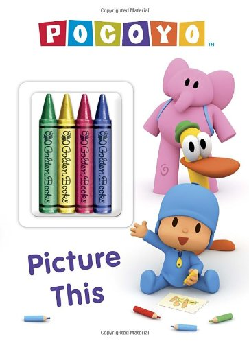 9780307980359: Pocoyo: Picture This [With 4 Crayons]