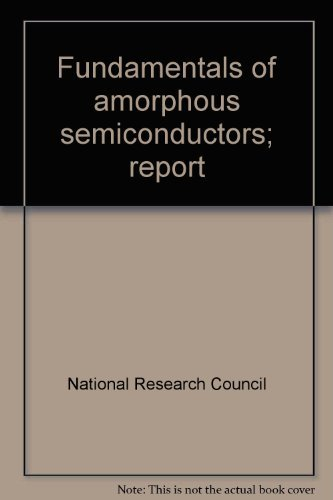 9780309019446: Fundamentals of amorphous semiconductors;: Report
